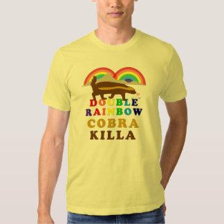 double rainbow honey badger cobra killa t shirt