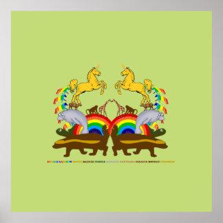 Double Rainbow Honey Badger Turtle Manatee... Poster