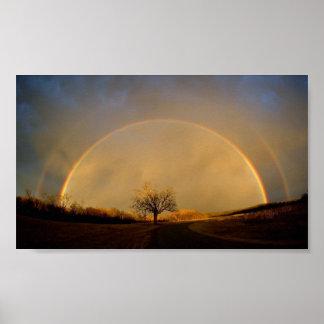 Double Rainbow Horizon Poster