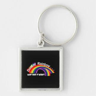 Double Rainbow Keychain