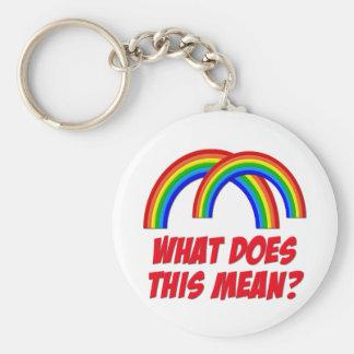 Double Rainbow Key Chains