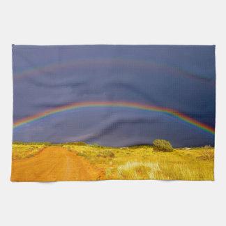 Double Rainbow Kitchen Towel