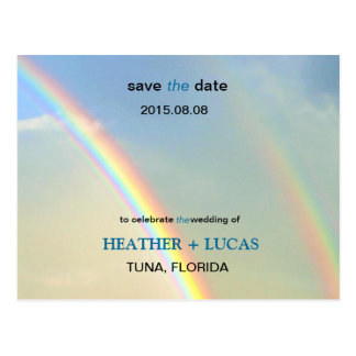 Double Rainbow l Save The Date Postcard Post Cards