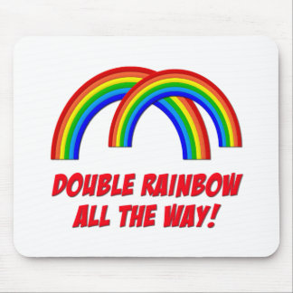 Double Rainbow Mouse Pad