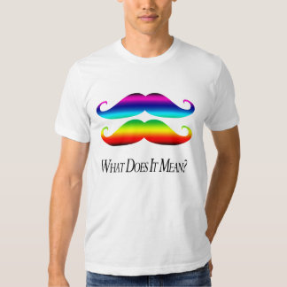 Double-Rainbow Mustaches Shirt