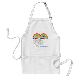 double rainbow narwhals adult apron