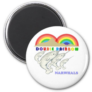 double rainbow narwhals magnets