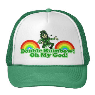 Double Rainbow Oh My God! Trucker Hat