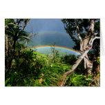 Double Rainbow over Manoa valley Card