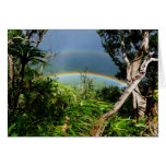 Double Rainbow over Manoa valley Greeting Card