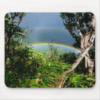 Double Rainbow over Manoa valley Mouse Pad