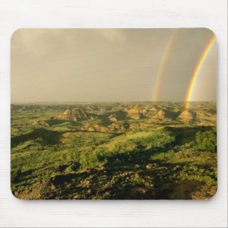 Double Rainbow over Painted Canyon in Theodore Mouse Pad