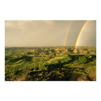 Double Rainbow over Painted Canyon in Theodore Photo Print