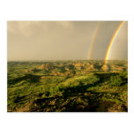 Double Rainbow over Painted Canyon in Theodore Postcard