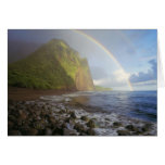 Double rainbow over the cliffs of the North Card