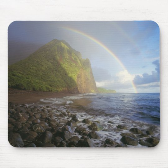 Double rainbow over the cliffs of the North Mouse Pad