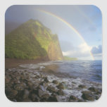 Double rainbow over the cliffs of the North Square Sticker