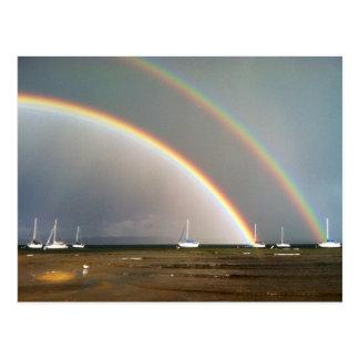 Double Rainbow Over Traverse City Postcard