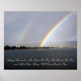 Double Rainbow Photographic Poster