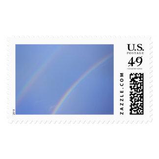Double Rainbow Postage Stamp