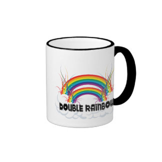 DOUBLE RAINBOW RINGER COFFEE MUG