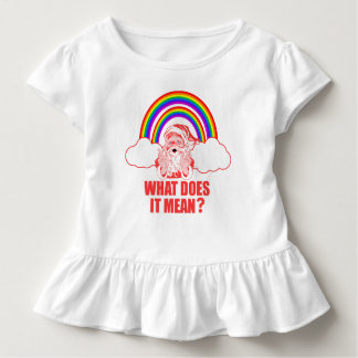 Double Rainbow Santa Claus Toddler T-shirt