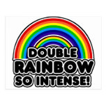 Double Rainbow so Intense Postcards