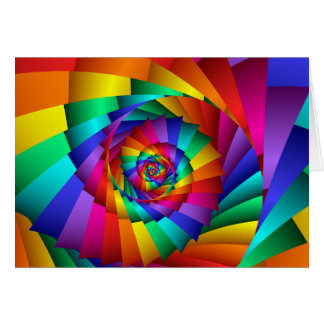 Double Rainbow Spiral Greeting Card