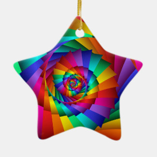 Double Rainbow Spiral Ornament