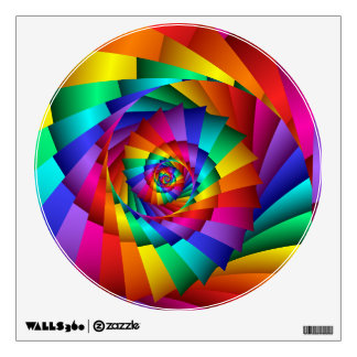 Double Rainbow Spiral Wall Decal