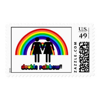 Double Rainbow Stamp