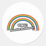 Double Rainbow Stickers