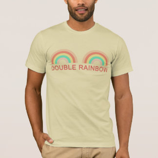 Double Rainbow Text Unisex T-Shirt