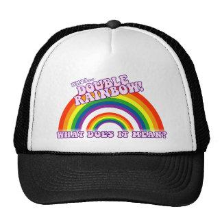 Double Rainbow tshirt Trucker Hat