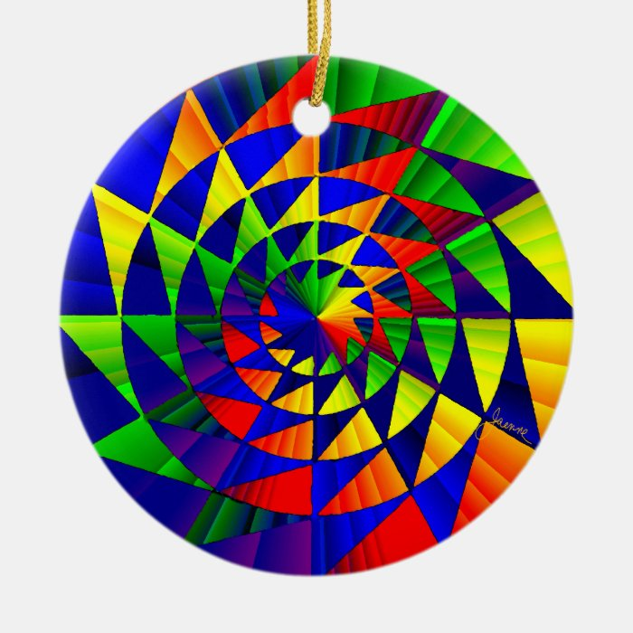 Double Rainbow Twister Ornaments