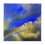 "Double Rainbow Vision Ceramic Tile<br><div class=""desc"">In many cultures,  the double rainbow symbolizes a transformation of spirit! Hawaiian Sky Designs presents this magical moment to you,  transforming you inside and out.</div>"
