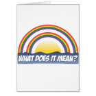 Double Rainbow What Does It Mean? Card