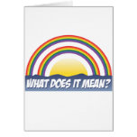 Double Rainbow What Does It Mean? Greeting Cards