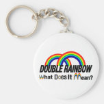double rainbow. What does it mean? Keychain