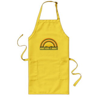 Double Rainbow What Does It Mean? Long Apron