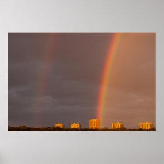 Double Rainbow Wide Nettles Island Poster