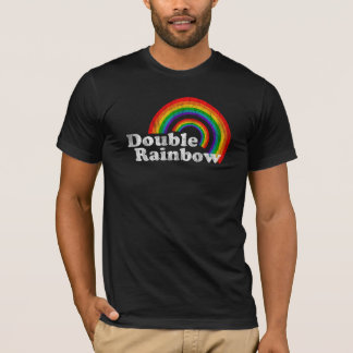 Double Rainbow (Worn Look, Dark Apparel) T-Shirt