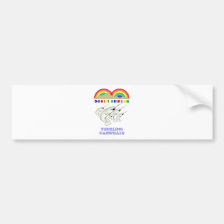 Double Rainbow Yodeling Narwhals Bumper Sticker