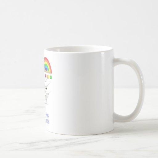 Double Rainbow Yodeling Narwhals Classic White Coffee Mug