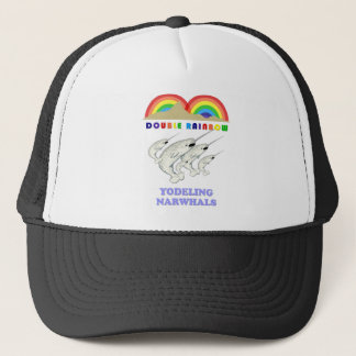 Double Rainbow Yodeling Narwhals Trucker Hat
