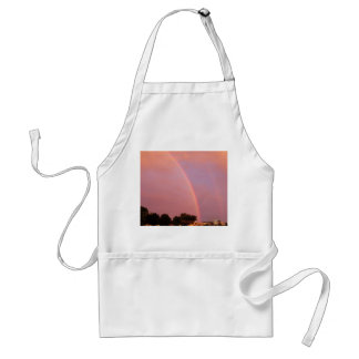 Double Rainbows at Sunset Adult Apron