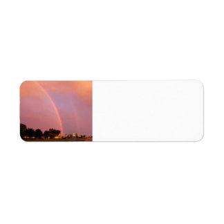 Double Rainbows at Sunset Label