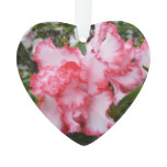 Double Red and White Azaleas Spring Floral Ornament