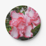 Double Red and White Azaleas Spring Floral Paper Plate
