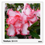 Double Red and White Azaleas Spring Floral Wall Sticker
